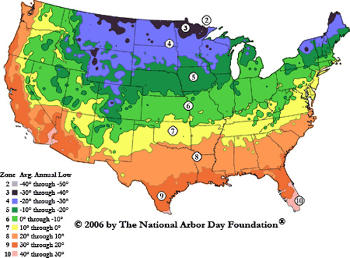 Hardiness Zones Heat Zones And Sunset Climate Zones Temperate Climate Per