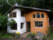 I'm excited to see how the finished home turns out... here is an example of one cob home in the Pacific Northwest.