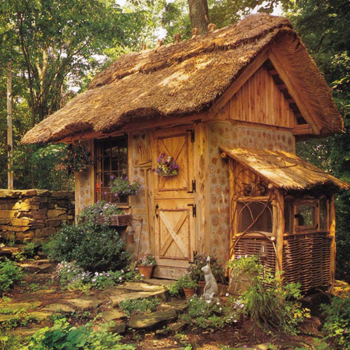 Cordwood Home exterior