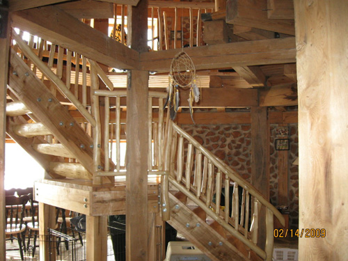 Cordwood Home interior