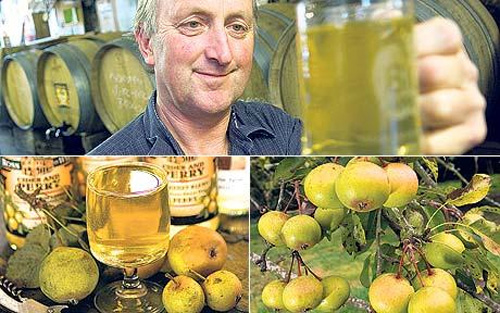 Perry (a.k.a. Pear Cider) is a traditional drink that is making a comeback.