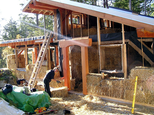 Straw-Bale Home under construction