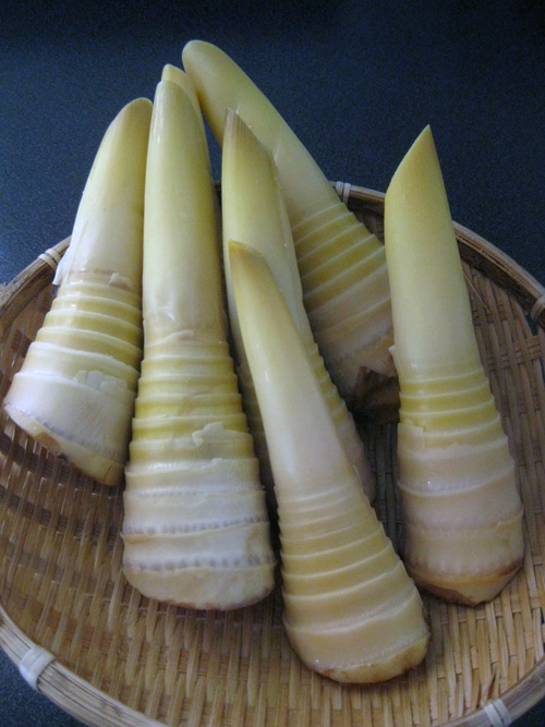 Cleaned Bamboo shoots ready to cook!