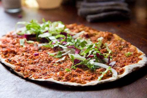 They are delicious when finely chopped and sprinkled on lamacun (aka Turkish Pizza).