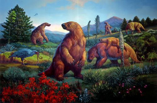 Artist's rendition of Ground Sloths.