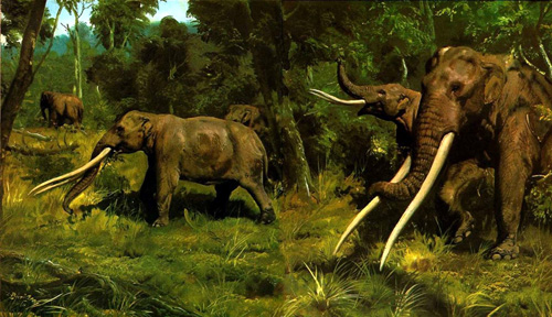 Another rendition of the forest-dwelling Mastodons.