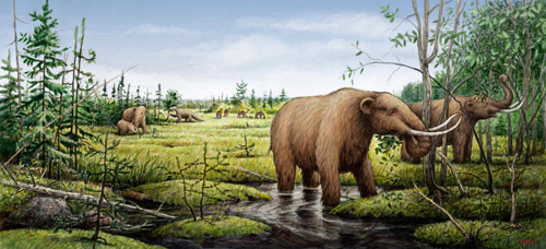 Artist's rendition of the Mastodon.
