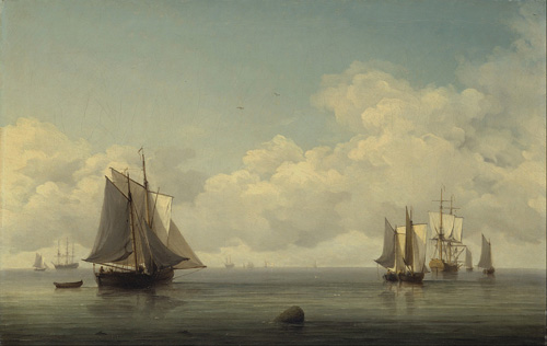 How things feel when a wise decision is made. Fishing Boats in a Calm Sea, by Charles Brooking (1745-1759)