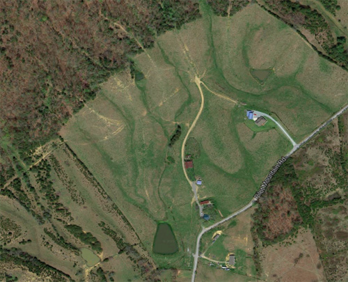 Aerial map of the Bauernhof (Google Maps).
